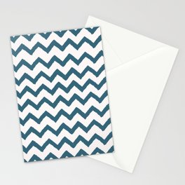 Chevron Teal Stationery Cards
