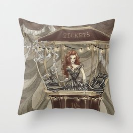 Midnight Circus: tickets Throw Pillow