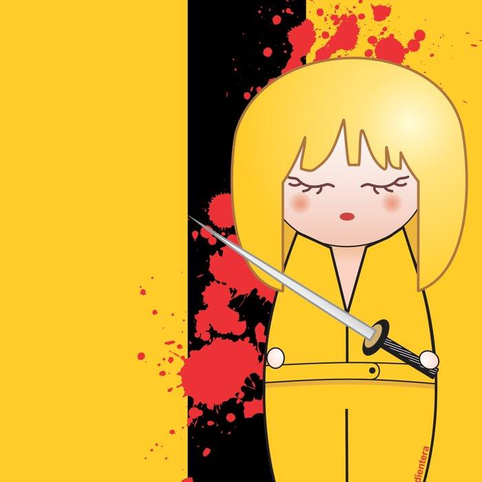 Kokeshi Beatrix of Kill Bill Leggings