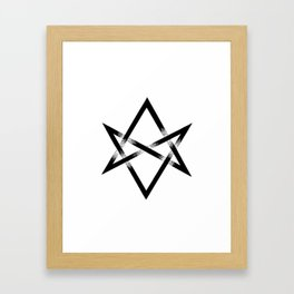 Unicursal Hexagram Framed Art Print