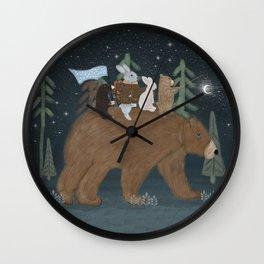 the moon bear Wall Clock
