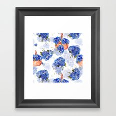 Cape Cod Hydrangeas and Baskets Framed Art Print