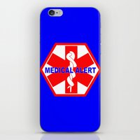 medical iPhone & iPod Skins featuring  MEDICAL ALERT IDENTIFICATION TAG by Sofia Youshi