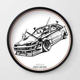 Crazy Car Art 0008 Wall Clock