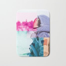 Cosmonaut double exposure 2 Bath Mat