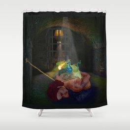 Woman with the Dragon Tattoo Shower Curtain