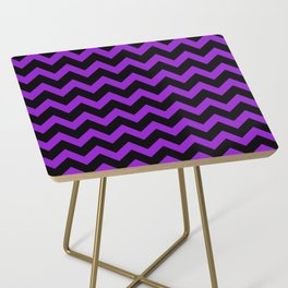 Purple Chevron Side Table