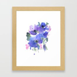 Blue Poppies and Wildflowers Framed Art Print