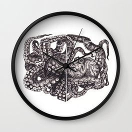 Octopus Invisble Box Wall Clock