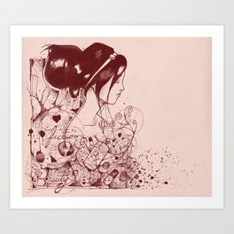 Fiction and Beauty Art Print