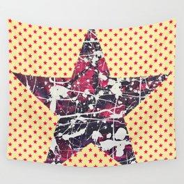 Hopkin's Bedtime - Orange Star Wall Tapestry