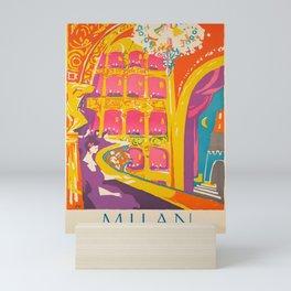 Vintage Travel Milan 2 Mini Art Print