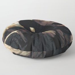 Honore Daumier - Outside the Print–Seller's Shop Floor Pillow