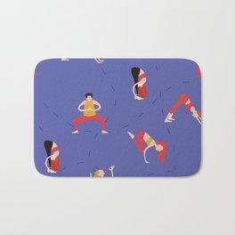 Yoga Girls blue lines Bath Mat