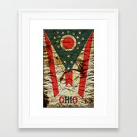 ohio Framed Art Prints featuring OHIO by Bili Kribbs