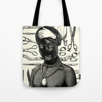 butcher billy Tote Bags featuring  Butcher by DIVIDUS