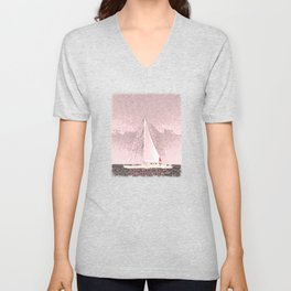 """Sailboat #8"" Art of the Sea by Murray Bolesta Unisex V-Neck"