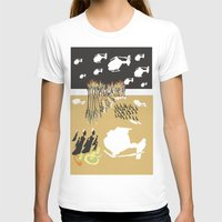 war T-shirts featuring war by DONA USTRA