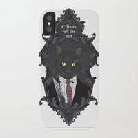american psycho iPhone & iPod Cases featuring American Psycho Kitty by Elisabeth Acerbi