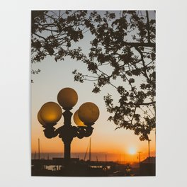 Sunset in Newport Poster