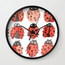 ladybug pattern Wall Clock