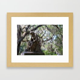 Lady Under the Oaks Framed Art Print