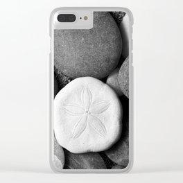 Sand Dollar on Rocks Clear iPhone Case
