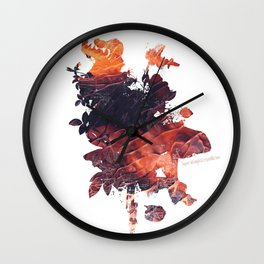 Mask Flow Fire Wall Clock