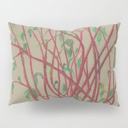 Red twigs Pillow Sham