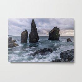 Icelandic Seascape Metal Print