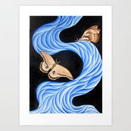 blue moths Art Print