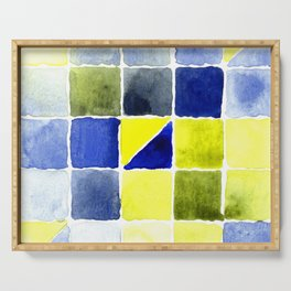 Color Chart - Lemon Yellow (DS) and Cobalt Blue (DS) Serving Tray