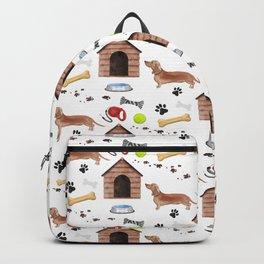 Dachshund Half Drop Repeat Pattern Backpack