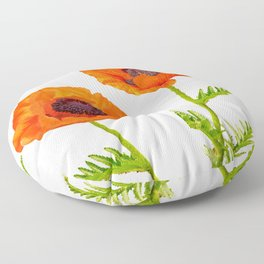 Two beautiful  poppies Floor Pillow