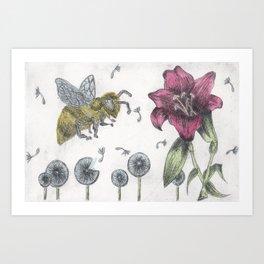 Bee Happy 2 Art Print