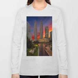 Petronas Towers Sunset Long Sleeve T-shirt