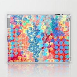 Blue Circle Pattern Laptop & iPad Skin