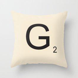 Scrabble G Throw Pillow