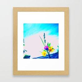 Blooming Wildflowers Framed Art Print