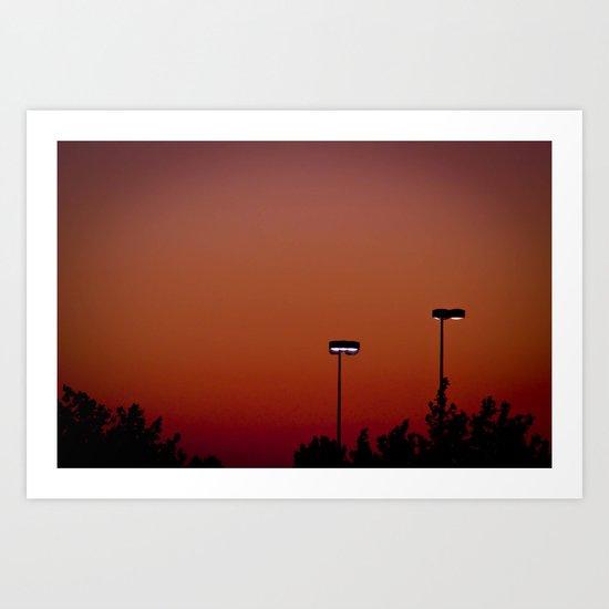 Lights in the Sunset Art Print