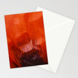 Red Oriental Poppy poppy leaf Stationery Cards