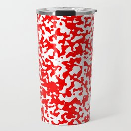 Small Spots - White and Red Travel Mug
