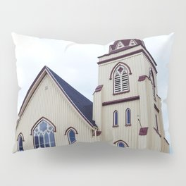 Church under Cloudy Skies Pillow Sham