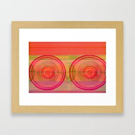 double pink Framed Art Print