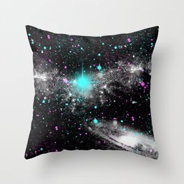 space the colorful   Throw Pillow