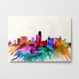 Konya Skyline Metal Print