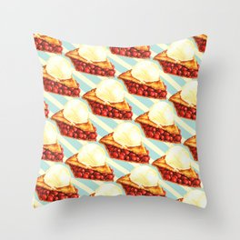 Cherry Pie Pattern Throw Pillow
