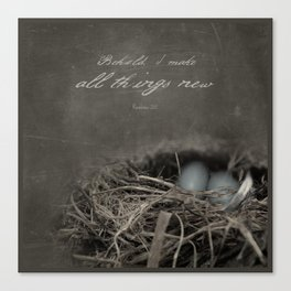 New Beginings~ nest Canvas Print
