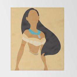 Pocahontas - Minimalist Throw Blanket