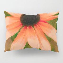 Vibrant Orange Coneflower Pillow Sham